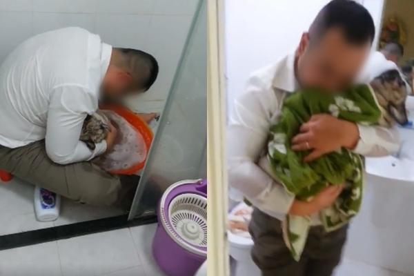 Clip: Chủ vừa tắm cho chó cưng đã chết vừa khóc nức nở - Ảnh 3.