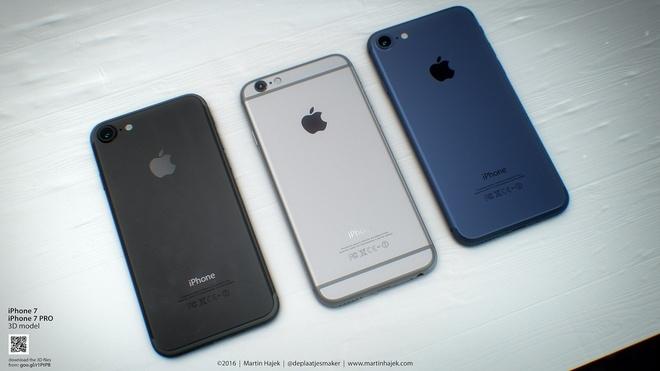 iPhone 7 màu đen lộ diện qua concept ấn tượng