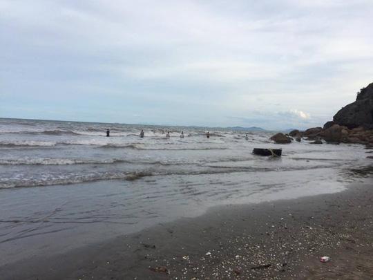 Bãi biển nơi em Yến bị đuối nước