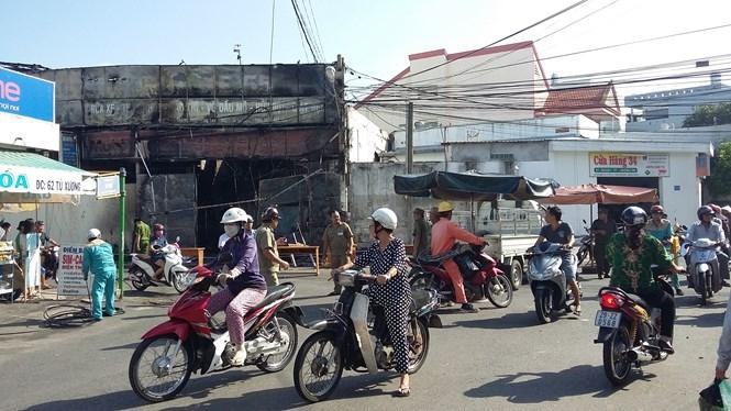 Vụ cháy xảy ra ở P.4 , TP.Vũng Tàu sáng nay /// Ảnh: Nguyễn Long