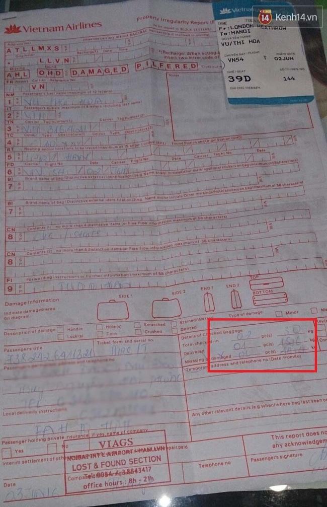 Khách hàng VNA bức xúc vì mất hơn 14kg hành lý trị giá gần 5.000 USD, hãng đền bù 288 USD - Ảnh 2.