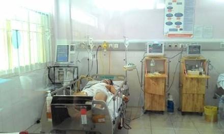 Bệnh nhân đang được theo dõi tại Bệnh viện quận Thủ Đức. Ảnh do bệnh viện cung cấp.