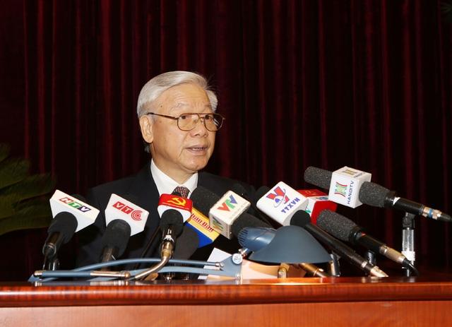 Tổng Bí thư Nguyễn Phú Trọng phát biểu khai mạc Hội nghị. Ảnh: Trí Dũng –TTXVN