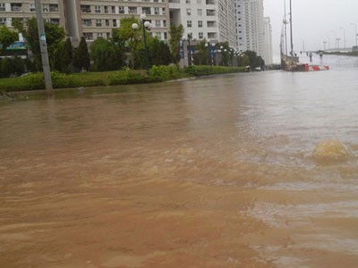 Hà Nội: Sau mưa lớn, chung cư Dương Nội lại thành...