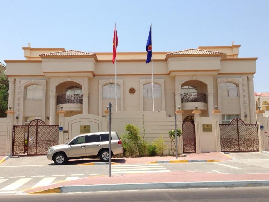 Đại sứ quán Việt Nam tại UAE (Ảnh: Facebook ĐSQ)