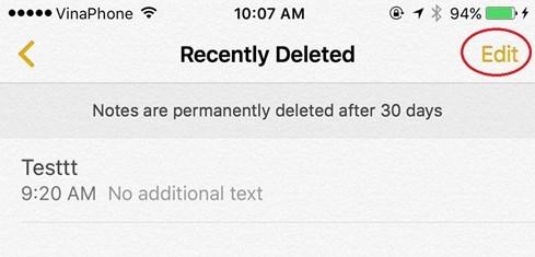 Làm thế nào để khôi phục 'ghi chú' vừa lỡ xóa trên iPhone - ảnh 3