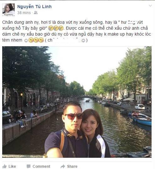 Hot girl Tu Linh lan dau cong khai ban trai tren Facebook hinh anh 1