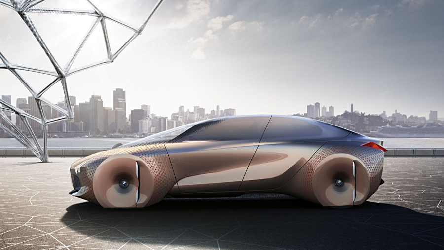 BMW Vision Next 100 là một trong những mẫu xe concept không có gương chiếu hậu.