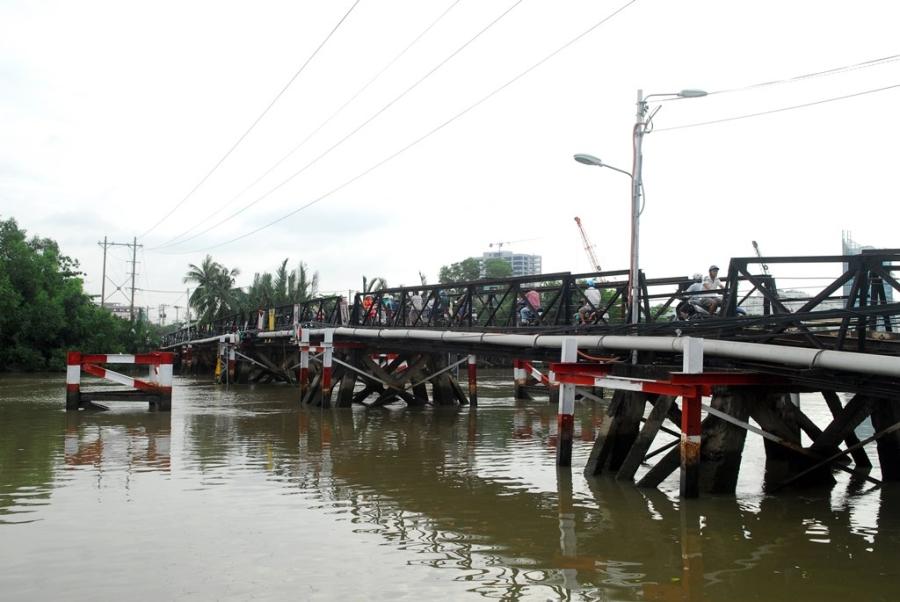 Cầu Rạch Đĩa nơi xảy ra vụ tai nạn đường thủy