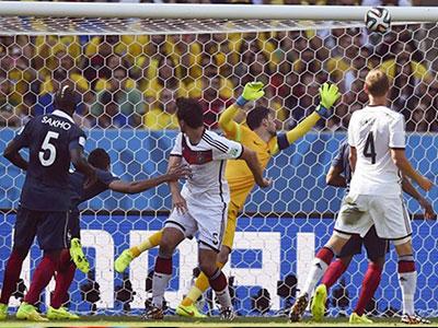 Lịch sử chống lại tuyển Pháp khi đối đầu Đức