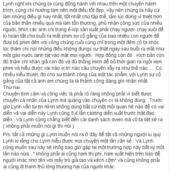 Dương Cẩm Lynh viết tâm thư 2