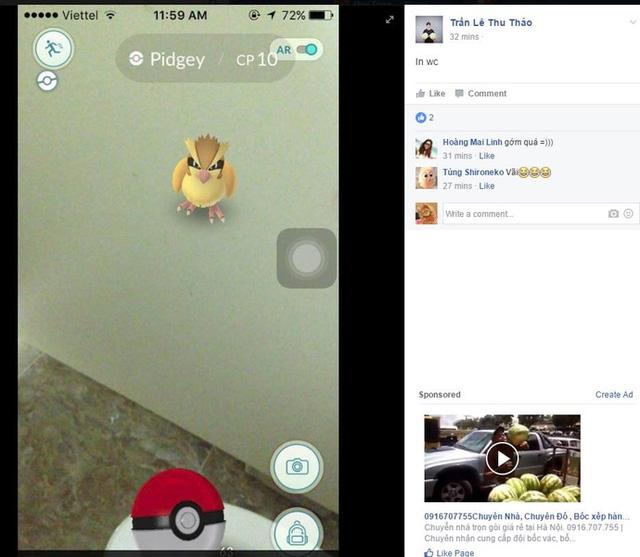 Một thanh niên Việt Nam đã bắt được Pokemon nhờ lao vào nhà vệ sinh nữ - Ảnh 2.