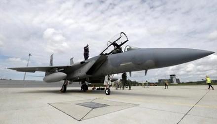 Chiến đấu cơ F-15 Eagle tại căn cứ quân sự Lielvarde, Latvia hôm 19/5.