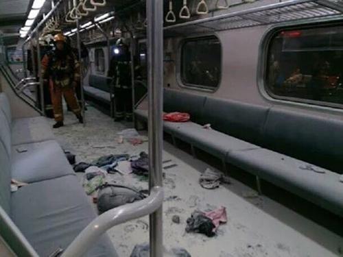 25 người bị thương, gồm 13 nam, 12 nữ trong vụ nổ toa tàu chở khách ở Đài Loan hôm 7/7. Ảnh: CNA.