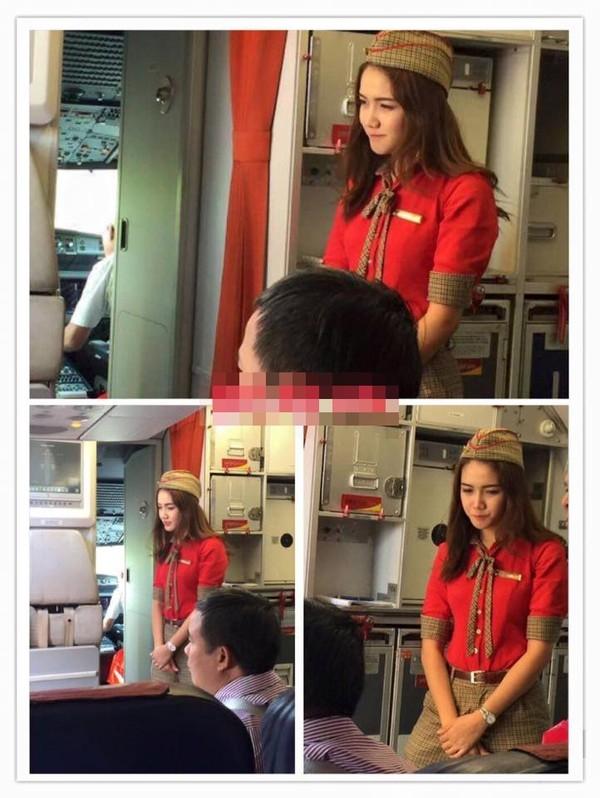 Nữ tiếp viên hàng không khiến khách hàng phải giơ máy chụp lén - Ảnh 4.