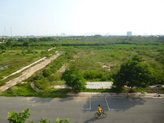 Dự án Metropolitan ngàn tỉ đồng nay vẫn chỉ là bãi đất trống Ảnh: NGỌC GIANG