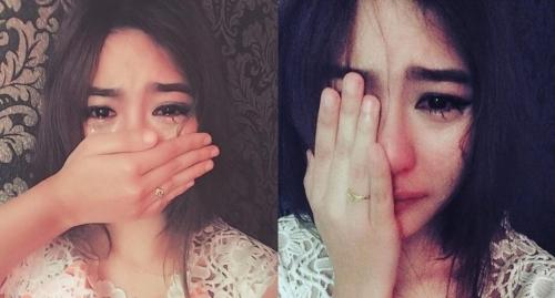 Bất ngờ với gương mặt thật của cô gái vừa che mặt vừa khóc - Ảnh 2