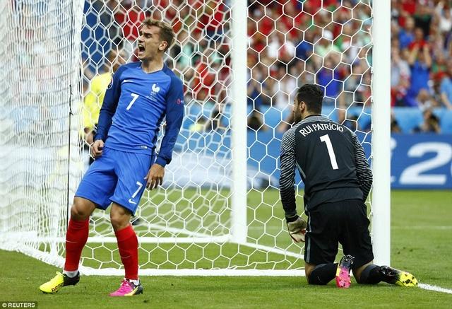 Griezmann đã bỏ lỡ nhiều cơ hội ở trận đấu này