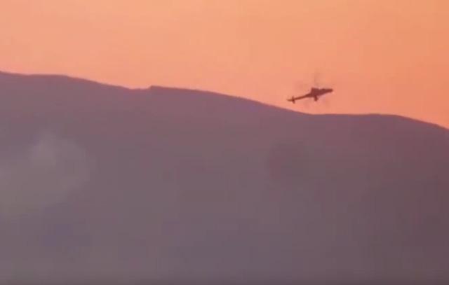 Trực thăng Nga bị bắn rơi ở Syria hôm 8/7. (Ảnh: Moscow Times)