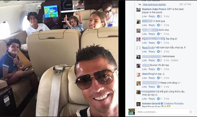 Fan Việt làm loạn trang facebook của Ronaldo - Ảnh 2.