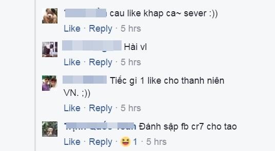 Fan Việt làm loạn trang facebook của Ronaldo - Ảnh 4.