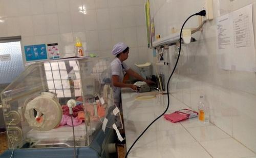 Căn phòng được cho là nơi xảy ra sự cố nhầm lẫn trẻ sơ sinh của 2 bé gái 3 năm trước. Ảnh: Phước Tuấn