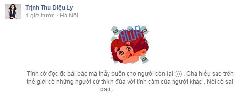 Bạn gái tin đồn của B Trần viết status đầy ẩn ý sau nghi án tái hợp của anh chàng và Quỳnh Anh Shyn - Ảnh 3.