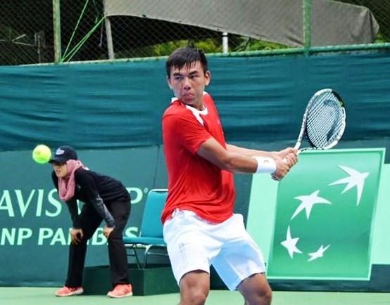 Lý Hoàng Nam là tay vợt chủ lực của đội tuyển quần vợt nam Việt Nam tại vòng 2 Davis Cup.