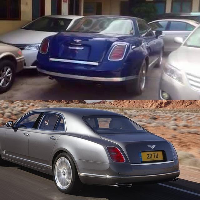 Cụm đèn hậu lại vay mượn của phiên bản Mulsanne. Tuy nhiên ống xả của chiếc Bentley có thiết kế khác so với hàng tiêu chuẩn.