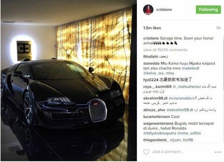 C.Ronaldo khoe siêu xe mới