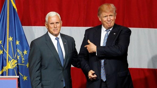 Ông Mike Pence từng xuất hiện tại buổi vận động cử tri của ông Trump ở bang Indiana /// Reuters