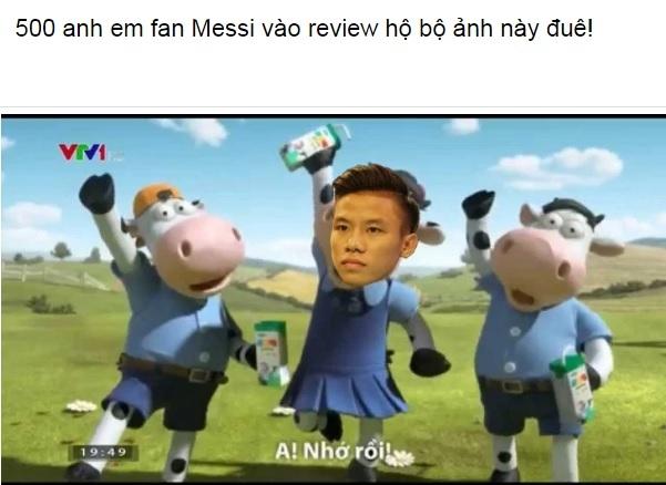 Khen Ronaldo, Quế Ngọc Hải khốn khổ vì fan Messi - Ảnh 1.
