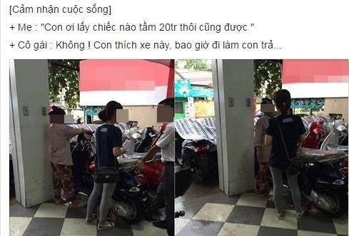 Vu co gai doi me mua xe dat tien: Nguoi ban hang len tieng hinh anh 1