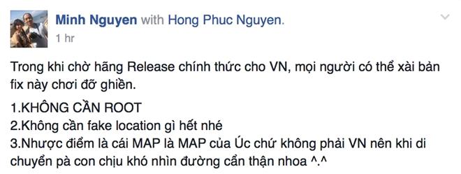 Da co ban Pokemon Go choi duoc ngay o Viet Nam hinh anh 1