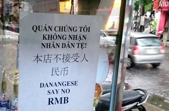 Dan Da Nang treo bang khong nhan tien Trung Quoc hinh anh 1