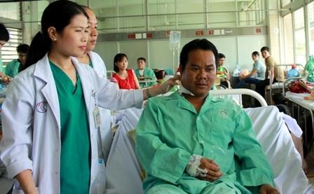 Nạn nhân đang điều trị tại bệnh viện Chợ Rẫy, hiện tình trạng sức khỏe đã ổn định