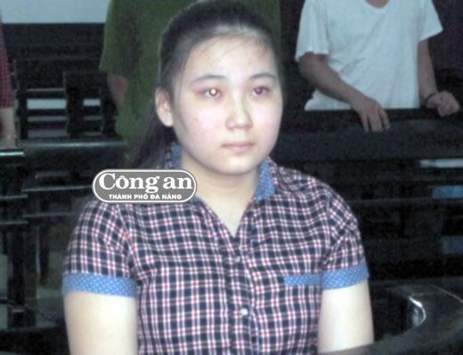 Bị cáo Võ Thị Thúy Hằng tại phiên tòa.