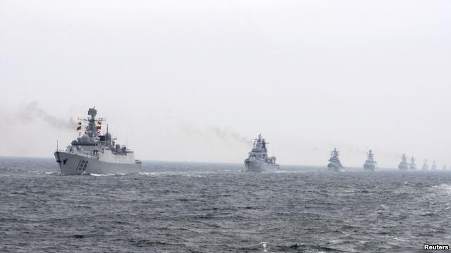 Hạm đội của hải quân Trung Quốc. (Ảnh: Reuters)