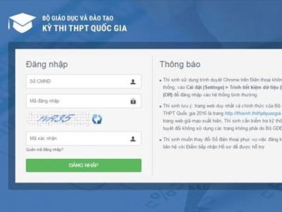 Xuất hiện trang web giả mạo kỳ thi THPT quốc gia