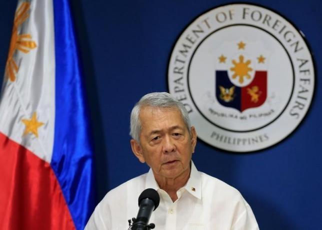 Ngoại trưởng Philippines Perfecto Yasay (Ảnh: Reuters)