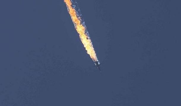 Máy bay Su-24 của Nga bị bắn rơi gần biên giới Syria cuối năm 2015. (Ảnh: Getty)
