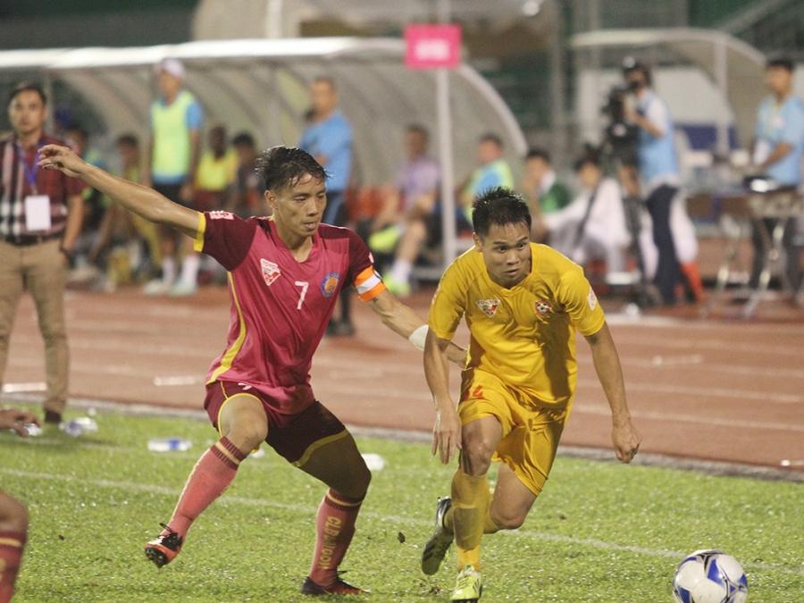 Trận Sài Gòn FC - Hải Phòng đang bị nghi ngờ về tính trung thực (ảnh: Trọng Vũ)