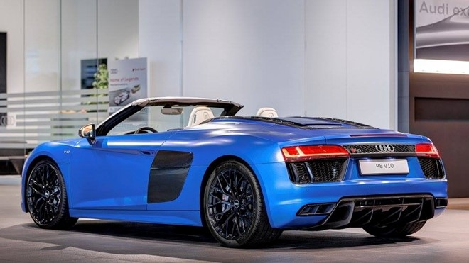 Audi R8 V10 mui tran mau doc hinh anh 2