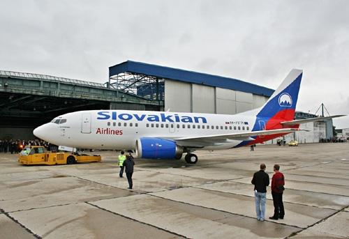 Một máy bay của hãng hàng không Slovakia - Ảnh minh họa