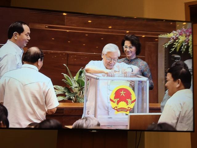 Bỏ phiếu bầu Chủ tịch Quốc hội khóa XIV, chiều ngày 21/7.