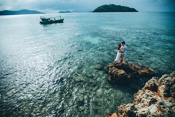 Bộ ảnh cưới được Ngọc Chiến và Hạnh Thảo thực hiện trên hòn đảo Nam Du xinh đẹp.