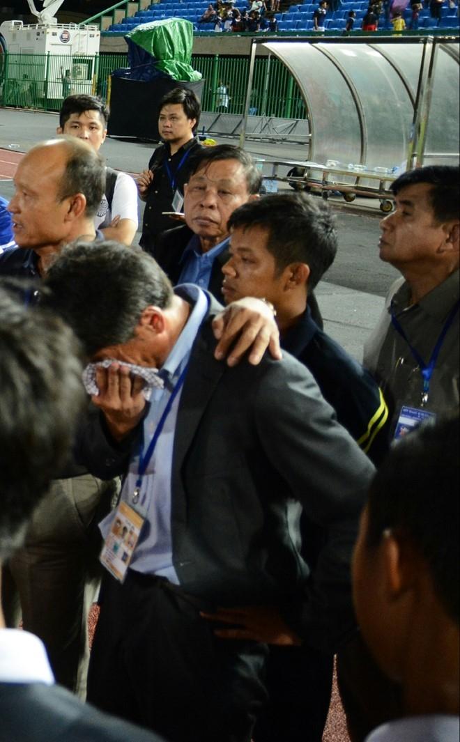 HLV U16 Campuchia bat khoc sau tran thua Viet Nam hinh anh 1