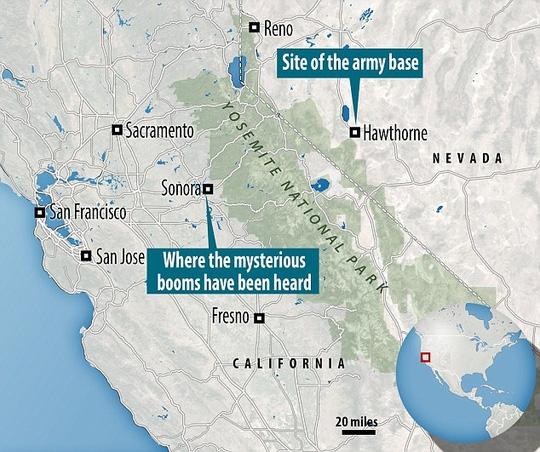 Hai thành phố Sonora và Hawthorne cách nhau hàng trăm km. Ảnh: DAILY MAIL