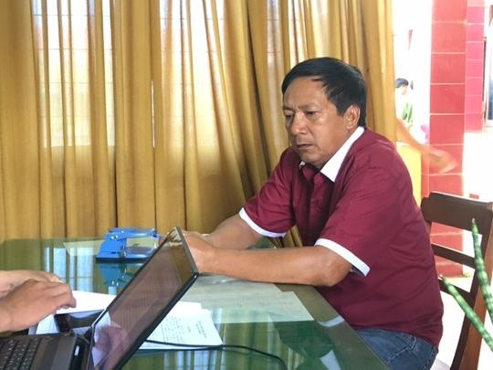Tài xế xe khách Nguyễn Văn Hiện tại cơ quan công an. Ảnh công an cung cấp