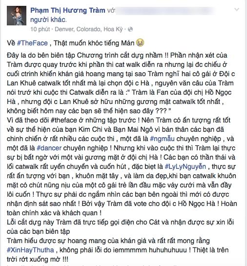 Hương Tràm lên tiếng khi bị chỉ trích khi làm giám khảo khách mời tại The Face - Ảnh 2.